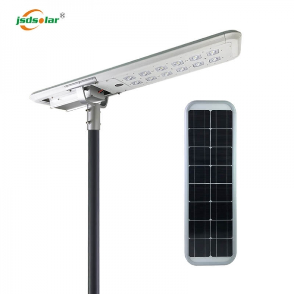 60W All In One Solar Street Lights With Lithium Battery With Pole