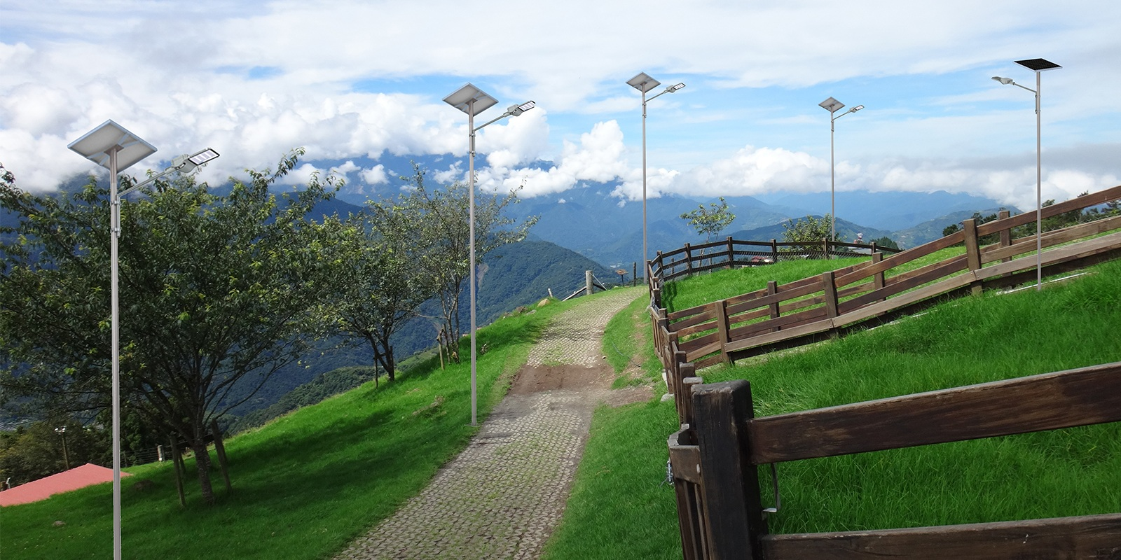 Farm solar street light